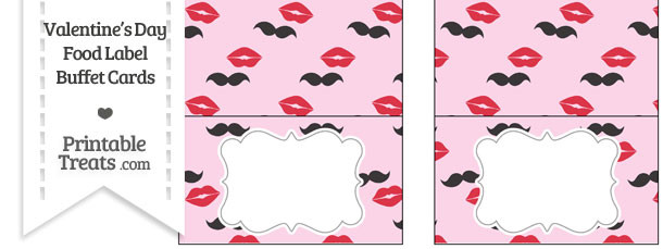 Mustache Kiss Food Labels