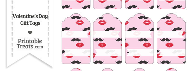 Mustache Kiss Gift Tags