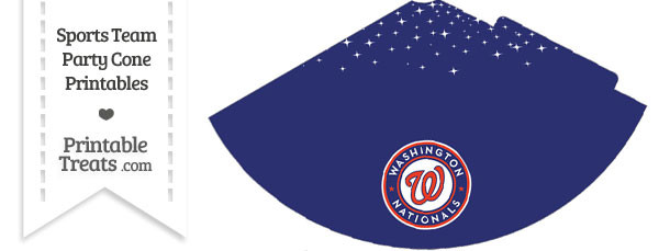 Nationals Party Cone Printable