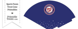 Nationals Treat Cone Printable