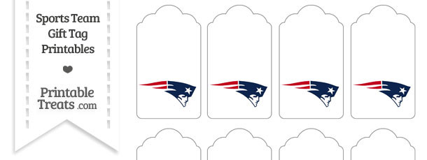 New England Patriots Gift Tags