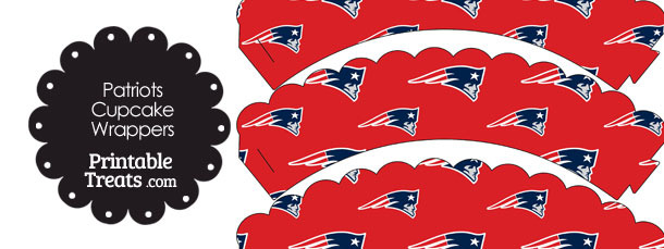 New England Patriots Logo Scalloped Cupcake Wrappers