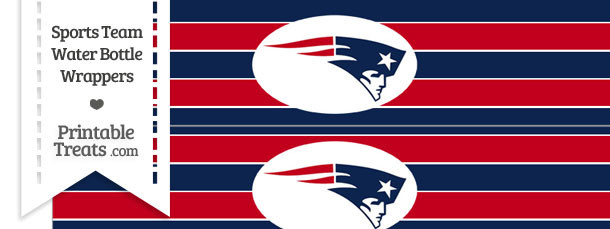 New England Patriots Water Bottle Wrappers