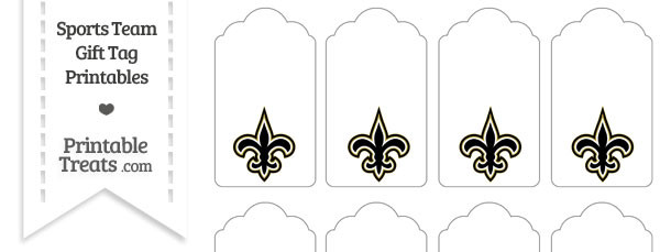New Orleans Saints Gift Tags