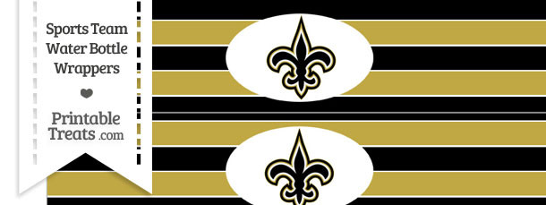 New Orleans Saints Water Bottle Wrappers