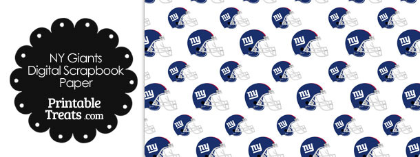 New York Giants Football Helmet Digital Paper