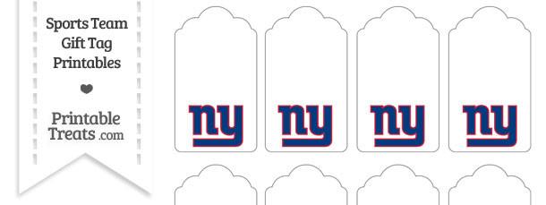 New York Giants Gift Tags