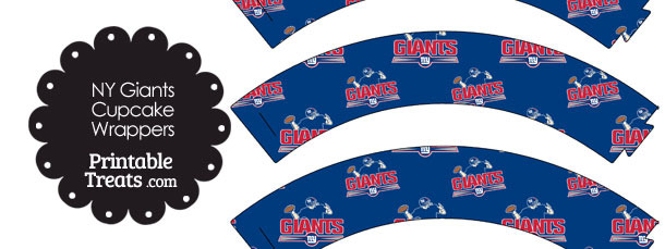 New York Giants Logo Cupcake Wrappers