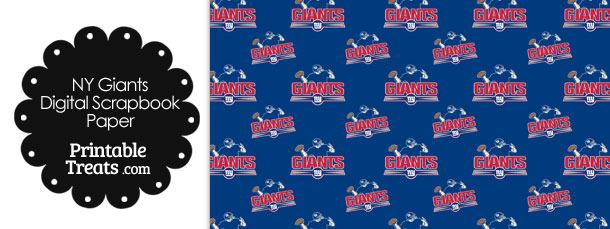 New York Giants Logo Digital Paper
