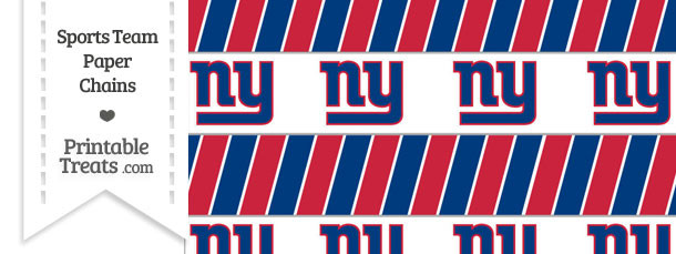 New York Giants Paper Chains