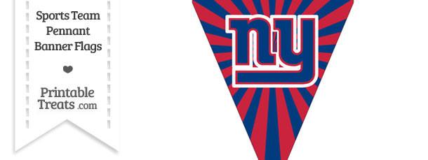 New York Giants Pennant Banner Flag