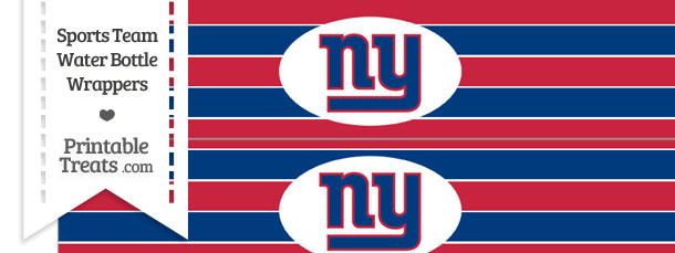 New York Giants Water Bottle Wrappers