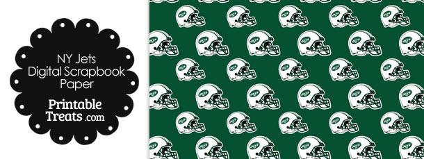 New York Jets Football Helmet Digital Paper