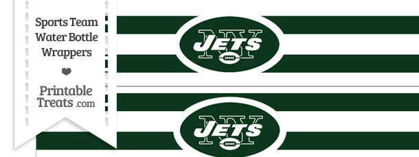 New York Jets Water Bottle Wrappers