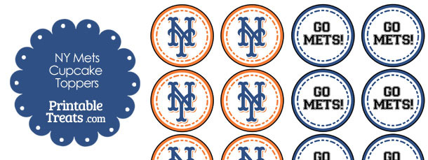 photograph regarding Printable Mets Schedule referred to as Contemporary York Mets Cupcake Toppers Printable