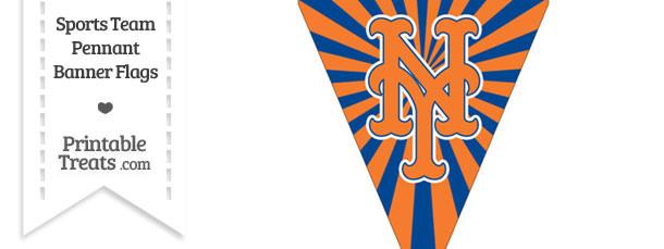 New York Mets Pennant Banner Flag