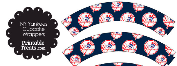 New York Yankees Baseball Cupcake Wrappers