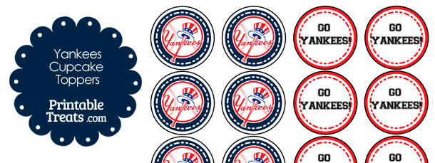 graphic relating to New York Yankees Printable Schedule referred to as Fresh York Yankees Cupcake Toppers Printable