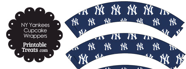 New York Yankees Logo Cupcake Wrappers