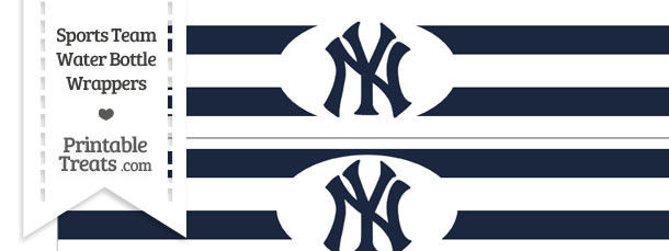 New York Yankees Water Bottle Wrappers