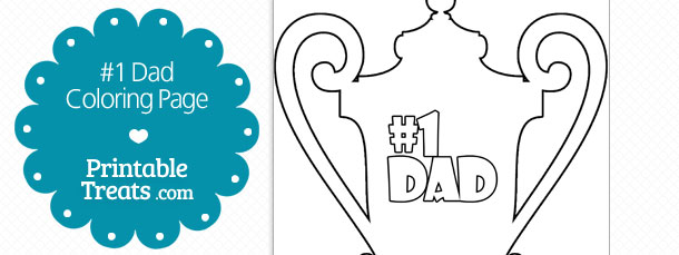 number one dad coloring page printable treats com