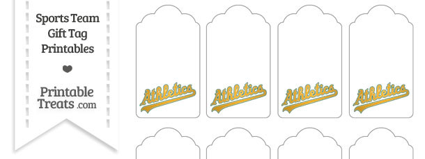 Oakland Athletics Gift Tags