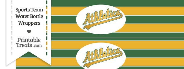 Oakland Athletics Water Bottle Wrappers