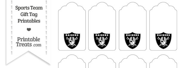 Oakland Raiders Gift Tags