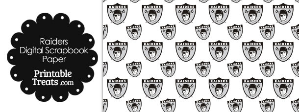 Oakland Raiders Logo Digital Paper