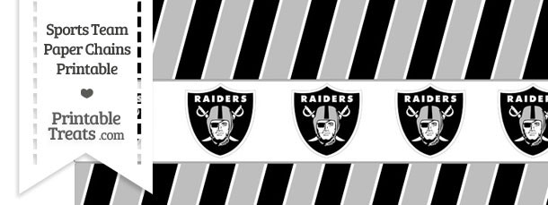 Oakland Raiders Paper Chains