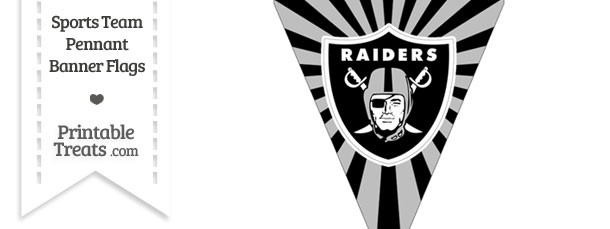 Oakland Raiders Pennant Banner Flag