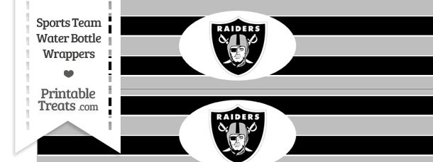 Oakland Raiders Water Bottle Wrappers