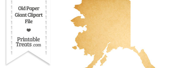 Old Paper Giant Alaska State Clipart