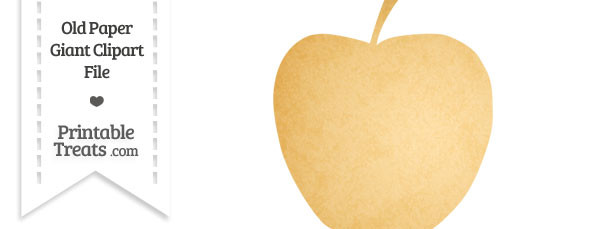Old Paper Giant Apple Clipart