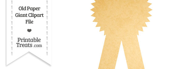 Old Paper Giant Award Ribbon Clipart