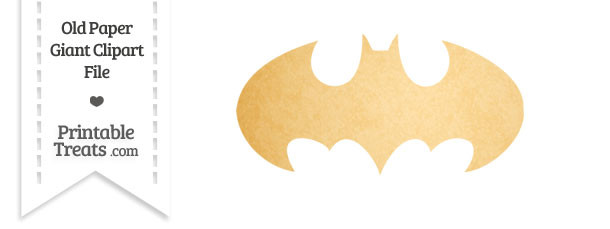 Old Paper Giant Batman Symbol Clipart