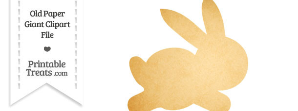 Old Paper Giant Bunny Clipart