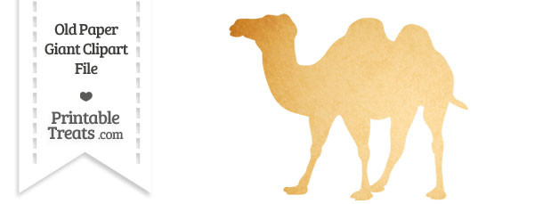 Old Paper Giant Camel Clipart