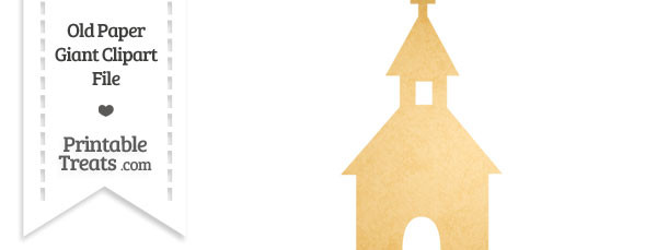 Old Paper Giant Church Steeple Clipart