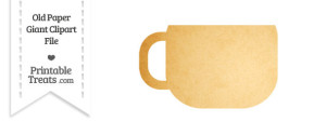 Old Paper Giant Coffee Cup Clipart