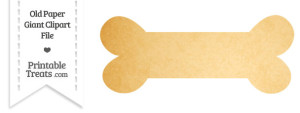 ... Old Paper Giant Dog Bone Clipart