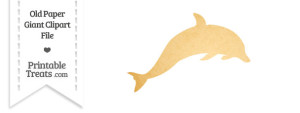 Old Paper Giant Dolphin Clipart