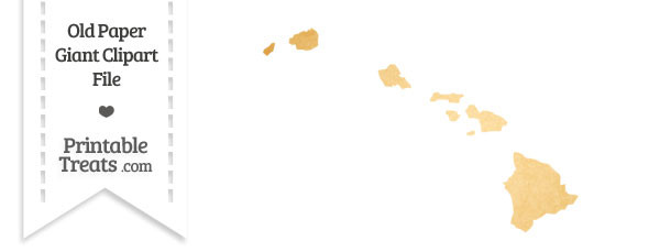 Old Paper Giant Hawaii State Clipart