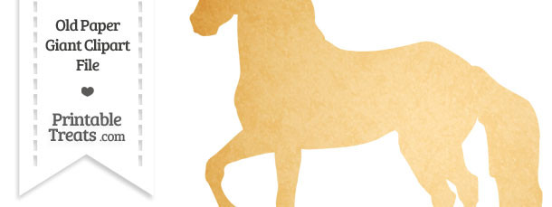 Old Paper Giant Horse Clipart