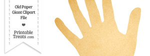 Old Paper Giant Left Hand Clipart