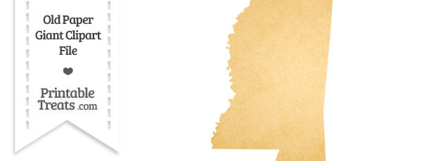 Old Paper Giant Mississippi State Clipart