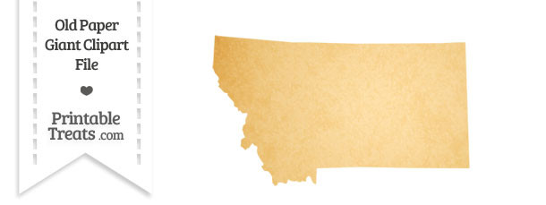 Old Paper Giant Montana State Clipart