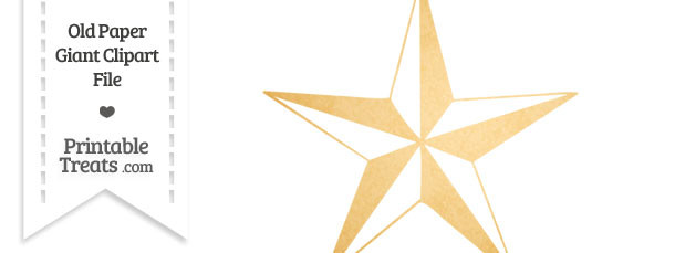 Old Paper Giant Nautical Star Clipart