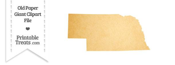 Old Paper Giant Nebraska State Clipart