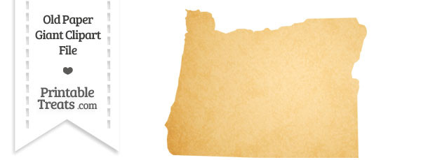 Old Paper Giant Oregon State Clipart